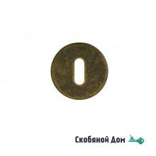 """Накладка под сув. ключ """"Мари"""", бронза античная с керамикой"""