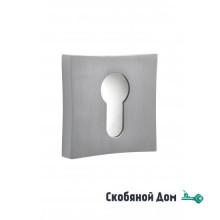 Накладка квадрат на цилинрд к ручкам ORO&ORO, никель супер матовый