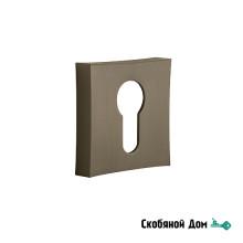 Накладка квадрат на цилинрд к ручкам ORO&ORO, титаниум