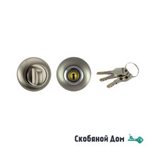 Завертка с ключом RENZ, никель мат - никель блест.