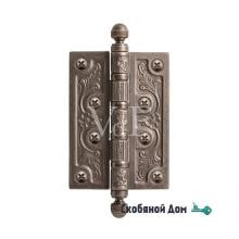 Петля латунная VAL DE FIORI, серебро античное  VDF 102- 4BB CH AI