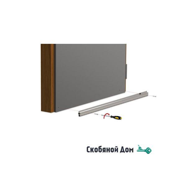 Автопорог- антипорог дверной накладной Venezia 1450/700 мм регулировка 1 уровень цвет тем.коричневый