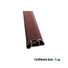 Автопорог- антипорог дверной накладной Venezia 1450/900 мм регулировка 1 уровень цвет тем.коричневый