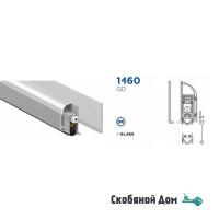 Автопорог- антипорог дверной накладной для стекла Venezia 1460GD/900 мм 1 уровень цвет серебристый