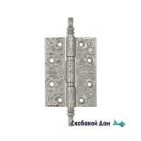 Дверная петля универсальная латунная с узором Venezia CRS011 102x76x4 полированный хром