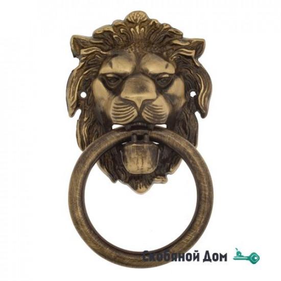 "Дверная стучалка Venezia ""LEONE"" 190x110 лакированная бронза"