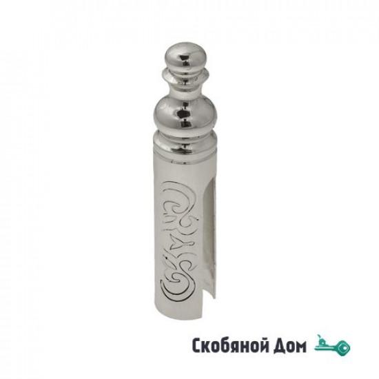 Колпачок для ввертных петель Venezia CP14 D с пешкой, рисунок D14 мм натуральное серебро + черный