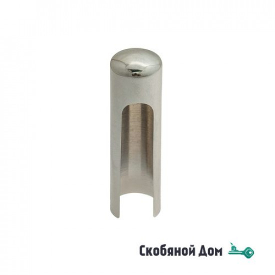 Колпачок для ввертных петель Venezia CP14 U без пешки D14 мм полированный хром