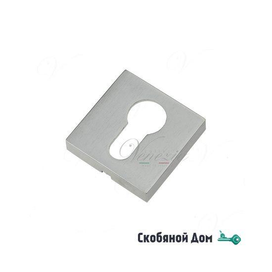 Накладка дверная квадратная под цилиндр Venezia Unique CYL-20 матовый хром