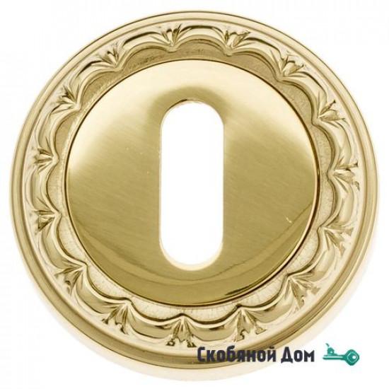 Накладка дверная под ключ буратино Venezia KEY-1 D2 полированная латунь