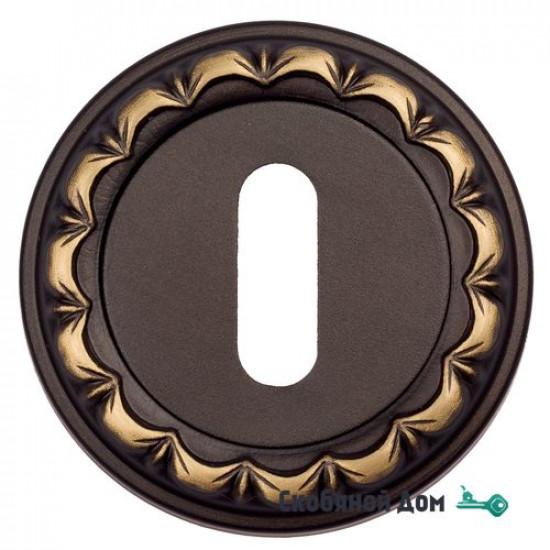 Накладка дверная под ключ буратино Venezia KEY-1 D2 темная бронза