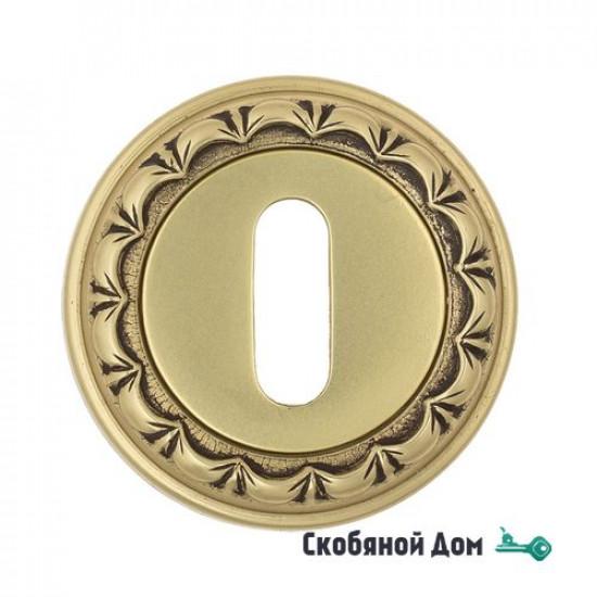 Накладка дверная под ключ буратино Venezia KEY-1 D2 французское золото + коричневый