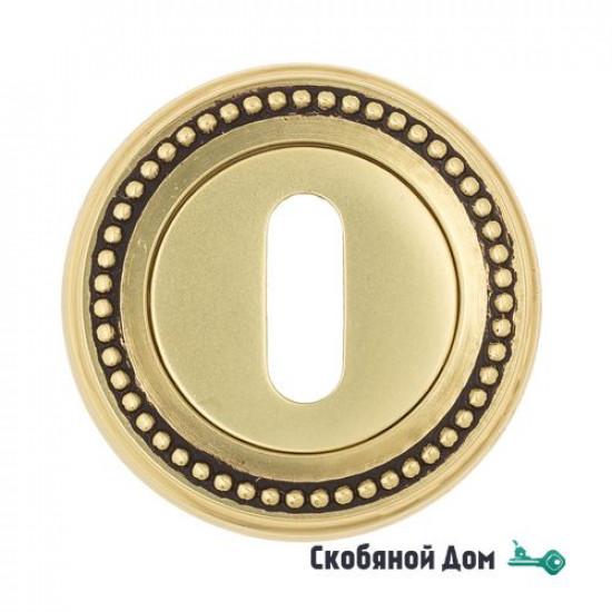 Накладка дверная под ключ буратино Venezia KEY-1 D3 французское золото + коричневый