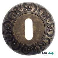 Накладка дверная под ключ буратино Venezia KEY-1 D4 античная бронза