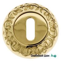 Накладка дверная под ключ буратино Venezia KEY-1 D4 полированная латунь
