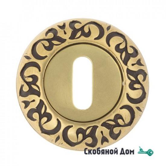 Накладка дверная под ключ буратино Venezia KEY-1 D4 французское золото + коричневый