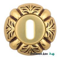 Накладка дверная под ключ буратино Venezia KEY-1 D5 французское золото + коричневый