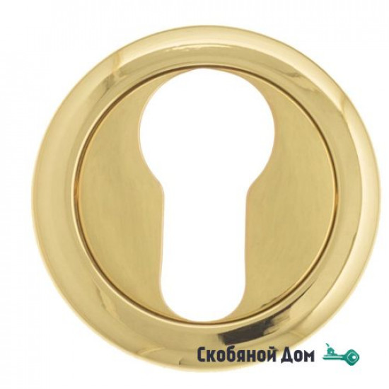 Накладка дверная под цилиндр Venezia CYL-1 D1 полированная латунь