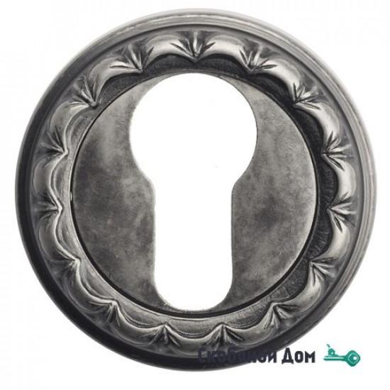 Накладка дверная под цилиндр Venezia CYL-1 D2 античное серебро