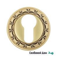 Накладка дверная под цилиндр Venezia CYL-1 D2 французское золото + коричневый