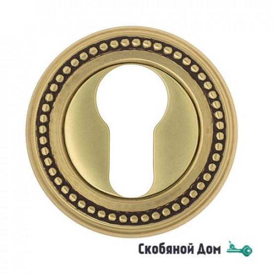Накладка дверная под цилиндр Venezia CYL-1 D3 французское золото + коричневый