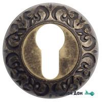 Накладка дверная под цилиндр Venezia CYL-1 D4 античная бронза