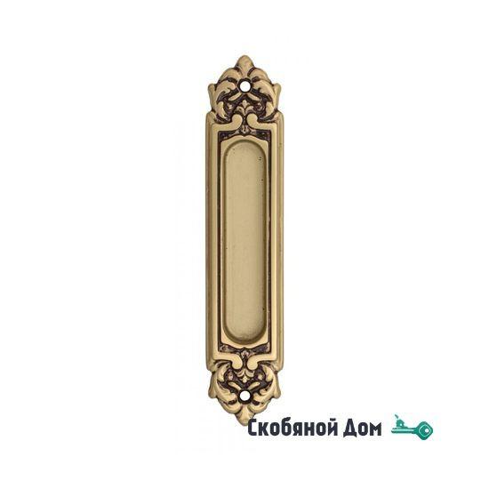 Ручка для раздвижной двери Venezia U122 DECOR французское золото + коричневый (1шт.)