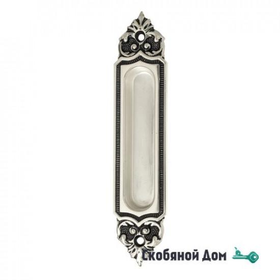 Ручка для раздвижной двери Venezia U122 натуральное серебро + черный (1шт.)