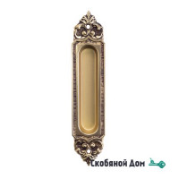 Ручка для раздвижной двери Venezia U122 французское золото + коричневый (1шт.)
