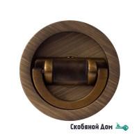 Ручка для раздвижной/распашной двери на круглом основании Venezia U155 матовая бронза