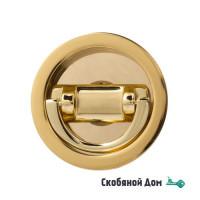 Ручка для раздвижной/распашной двери на круглом основании Venezia U155 полированная латунь