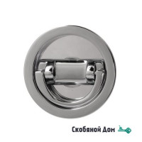 Ручка для раздвижной/распашной двери на круглом основании Venezia U155 полированный хром