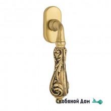 """Ручка оконная Venezia """"MONTE CRISTO"""" FW французское золото + коричневый"""