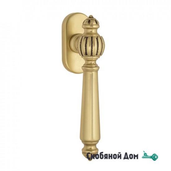 """Ручка оконная Venezia """"PELLESTRINA"""" FW французское золото + коричневый"""