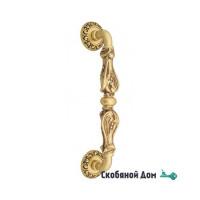 """Ручка скоба Venezia """"FLORENCE"""" 320мм (260мм) D4 французское золото + коричневый"""