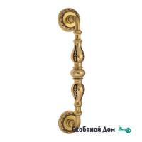 """Ручка скоба Venezia """"GIFESTION"""" 283мм (230мм) D2 французское золото + коричневый"""