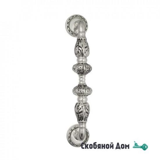"""Ручка скоба Venezia """"LUCRECIA"""" 303мм (250мм) D2 натуральное серебро + черный"""