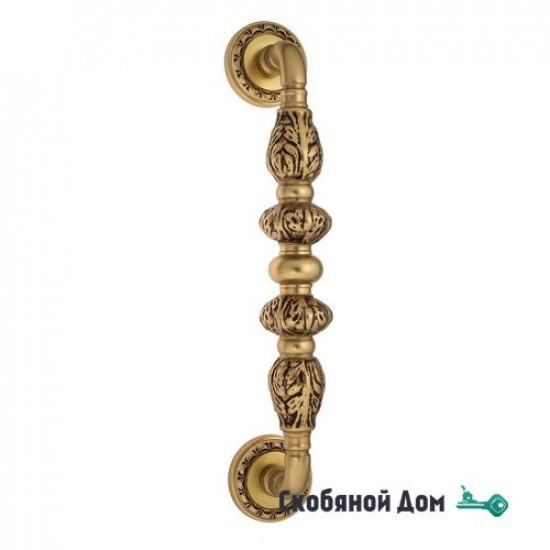 """Ручка скоба Venezia """"LUCRECIA"""" 303мм (250мм) D2 французское золото + коричневый"""
