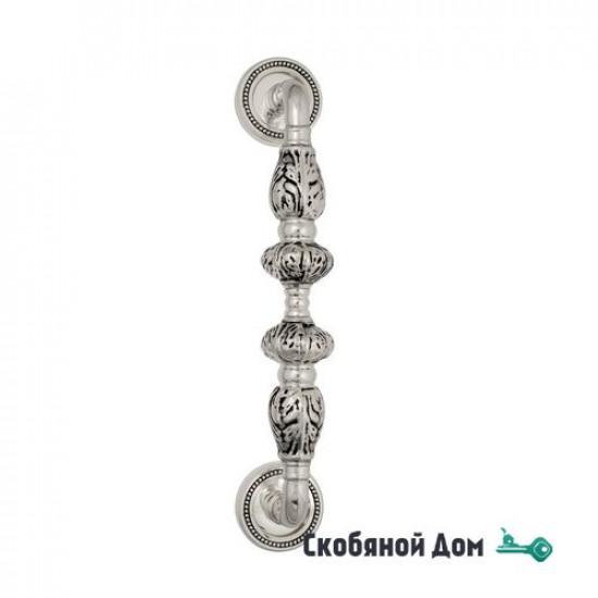 """Ручка скоба Venezia """"LUCRECIA"""" 305мм (250мм) D3 натуральное серебро + черный"""