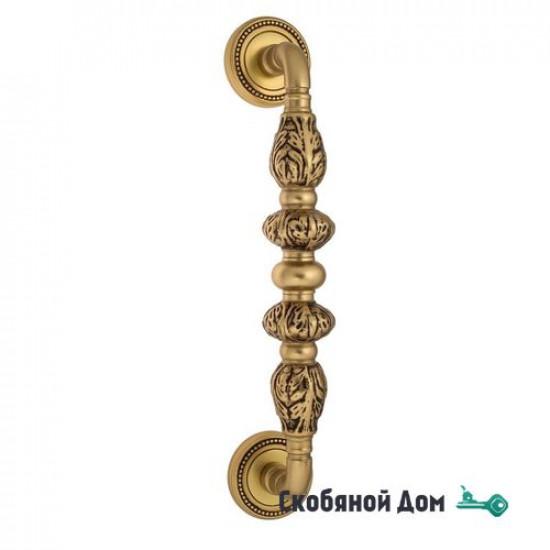 """Ручка скоба Venezia """"LUCRECIA"""" 305мм (250мм) D3 французское золото + коричневый"""