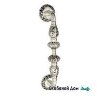 """Ручка скоба Venezia """"LUCRECIA"""" 310мм (250мм) D4 натуральное серебро + черный"""