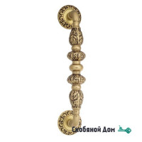 """Ручка скоба Venezia """"LUCRECIA"""" 310мм (250мм) D4 французское золото + коричневый"""