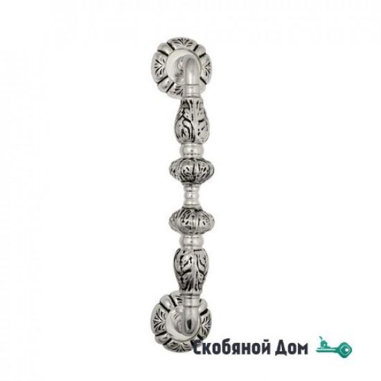 """Ручка скоба Venezia """"LUCRECIA"""" 312мм (250мм) D5 натуральное серебро + черный"""