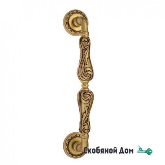 "Ручка скоба Venezia ""MONTE CRISTO"" 313мм (260мм) D2 французское золото + коричневый"