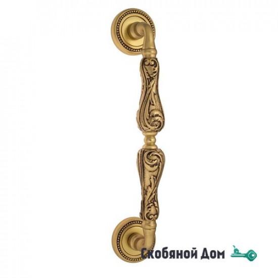 "Ручка скоба Venezia ""MONTE CRISTO"" 315мм (260мм) D3 французское золото + коричневый"