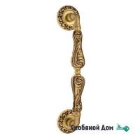 "Ручка скоба Venezia ""MONTE CRISTO"" 320мм (260мм) D4 французское золото + коричневый"
