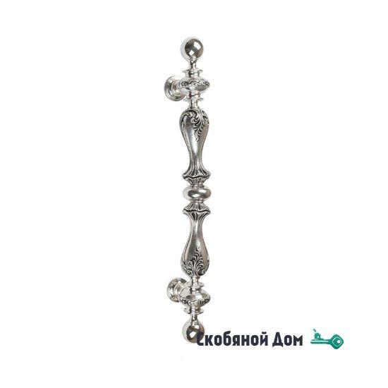 """Ручка скоба Venezia """"PALAZZO"""" 640мм (435мм) натуральное серебро + черный"""