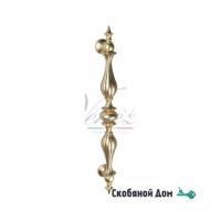 """Ручка скоба Venezia """"PIAZETTA"""" 565мм (440мм) французское золото + коричневый"""