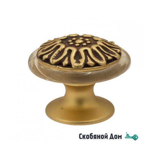 Упор дверной напольный Venezia ST6 французское золото + коричневый
