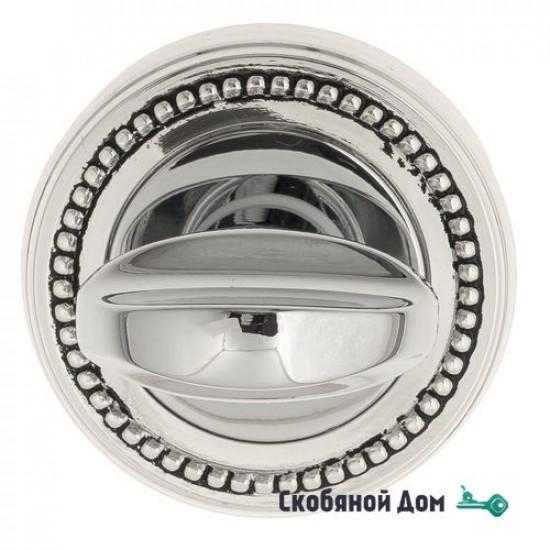 Фиксатор поворотный Venezia WC-2 D3 натуральное серебро + черный